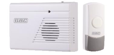Campanello wireless con pulsante da esterno ip44 gbc - Campanello casa senza fili ...