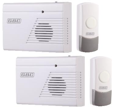 Kit 2 campanelli wireless con pulsanti da esterno ip44 - Campanello senza fili da esterno ...